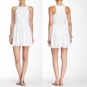 SOCIALITE White Floral Eyelet Skater Dress